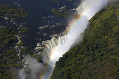Victoriafalls. After strong rainfall high water leading Victoriafalls Stock Image