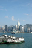 Victorial habor in Hong Kong Stock Photos