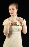 Victorian. Female model posing in Victorian clothes Royalty Free Stock Photography