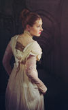 Victorian. Female model posing in Victorian clothes Royalty Free Stock Photos