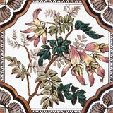 Victorian antique floral tile Royalty Free Stock Images