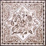 Victorian antique tile Stock Photos