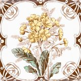 Victorian antique tile Royalty Free Stock Photos