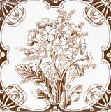 Victorian antique tile Stock Image
