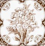 Victorian antique tile Stock Image