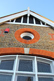 Victorian architecture. Photo of a victorian building showing nice detail to brickwork and roof sections Stock Photo