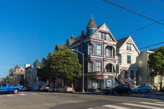 Victorian architecture in San Francisco California USA. Architecture of the residential buildings with a colorful facades Royalty Free Stock Image