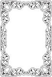 Victorian art ornate scroll frame Royalty Free Stock Photo