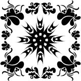 Victorian background. Victorian pattern, black and white Stock Photos