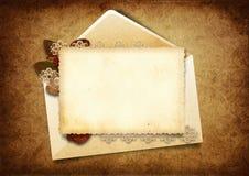 Victorian background with elegant postcard Stock Photo