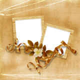 Victorian background with stamp-frames Stock Photography