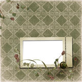 Victorian background with stamp-frames Royalty Free Stock Photo