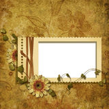 Victorian background with stamp-frames Stock Photos