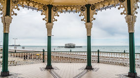 The Victorian bandstand in Brighton and Hove Royalty Free Stock Images