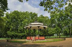 Victorian bandstand. Hyde Park. London Stock Images
