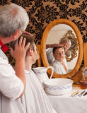 Victorian barber Stock Image