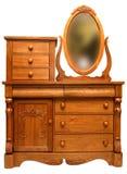 Victorian Bedroom Dresser. Solid Oak 19th Century Victorian Bedroom Dresser Stock Photo