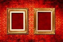 Victorian behang van het frame royalty-vrije stock fotografie