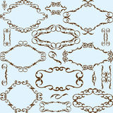 Victorian best set elements Royalty Free Stock Images