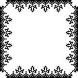 Victorian black frame against white Stock Photos