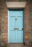 Victorian blue door Stock Image