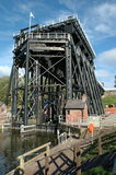 Victorian boat lift. Victorian mechanical boat lift in Anderton, Cheshire, UK, used to raising and lowering boats between two canal systems. Image is from the Royalty Free Stock Photos