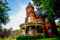 Victorian Brick Bed and Breakfast Home Stock Photo