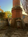 Victorian brick sewer works. Entry into underground Royalty Free Stock Photo