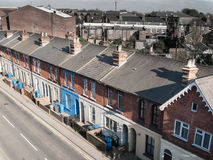 Victorian British terraced housing Stock Images