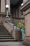Victorian Brownstone. Steps at Victorian brownstone mansion royalty free stock photo
