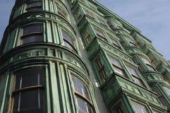 Victorian Building. Victorian era building with bay windows stock photos
