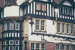 Victorian building facade and roog in London, United Kingdom Royalty Free Stock Photography