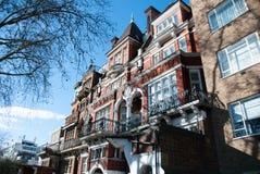 Victorian building in London. London, England. 04 march, 2016. Facade of Victorian building in London near Kensington garden Stock Photography