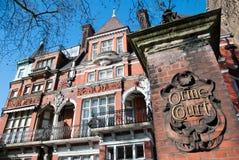 Victorian building in London. London, England. 04 march, 2016. Facade of Victorian building in London near Kensington garden Stock Image