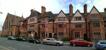 Victorian buildings in Chester town stock photography