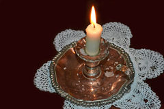 Victorian candle Stock Images