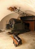 Victorian canon de 38 tonnes. Image stock