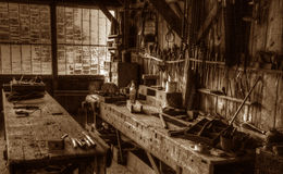 Victorian Carpenter's Workshop Stock Photos