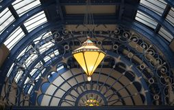 Victorian ceiling in The Winter Gardens, Blackpool Royalty Free Stock Photo