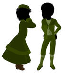 Victorian Children Art Illustration Silhouette Royalty Free Stock Photos