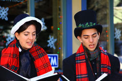 Victorian Christmas Carolers Royalty Free Stock Photography