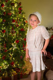 Victorian christmas girl Royalty Free Stock Photo