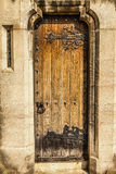 Victorian Church door and slit window Royalty Free Stock Photography
