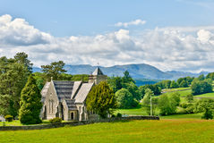 Victorian church in rural setting Royalty Free Stock Photography