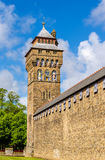 Victorian Clock Tower of Cardiff Castle Royalty Free Stock Photo