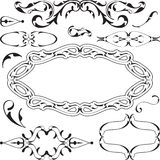 Victorian cool design elements set. On white Royalty Free Stock Images