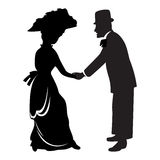 Victorian couple Royalty Free Stock Images