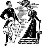 Victorian Couple Courting Royalty Free Stock Images
