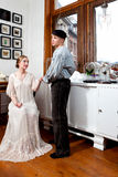 Victorian couple: sailor and girl Stock Photos