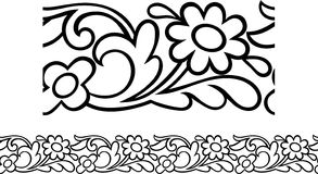 Victorian Daisy Border Royalty Free Stock Photos